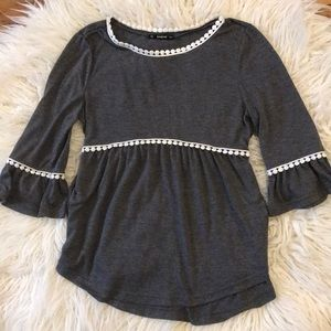 Cute Shirt with Bell Sleeves